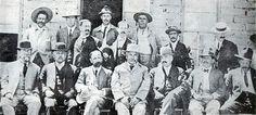 Madero's staff before the fall of Ciudad Juarez. Front row, left to right: Venustiano Carranza, Francisco Zásquez Gómez, Francisco Madero, Abraham González, ...