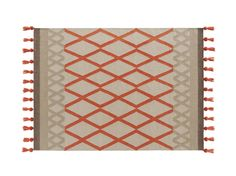 Rectangular wool rug with geometric shapes SIOUX Kilim Collection by GAN By Gandia Blasco | design Odosdesign