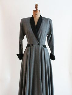 Look Blazer, Plaid Blazer, Blazer Dress, Shirt Dress, 1940s Dresses, Vintage Dresses, Stormy Night, Wool Dress, Wool Coat