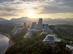 Hufton + Crow photographs MAD's Huangshan Mountain Village at dawn
