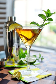 Mint & Lime Sweet Tea Martini. I cannot wait to try this! It sounds like the perfect Southern drink! I love sweet tea!