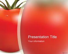 Plantilla PowerPoint de Tomate es un diseño de PowerPoint con una imagen de alta calidad de un tomate en el master slide