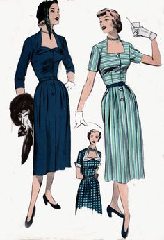 1950s Dress Advance 5689 Womens COUTURE Glam with Unique Neckline Vintage 50s Sewing Pattern Size 12 Bust 30 by sandritocat on Etsy