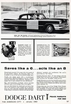 little police department where I grew up had a huge wreck with one of their cruisers, vic's, and while getting it repaired for the next forever used a. Dodge Dart, Old Police Cars, Old Cars, Car Advertising, Ads, Chrysler Valiant, New Dodge, Dodge Nitro, Classic Cars