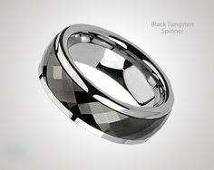 Elegant Black Tungsten Spinner by Blue Steel  Today At 75% Off Here #BuyBlueSteel