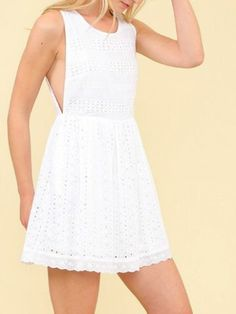white eyelet dress | sassyshortcake.com