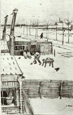 Vincent van Gogh (Dutch: 1853 – 1890) | Snowy Yard (1883)