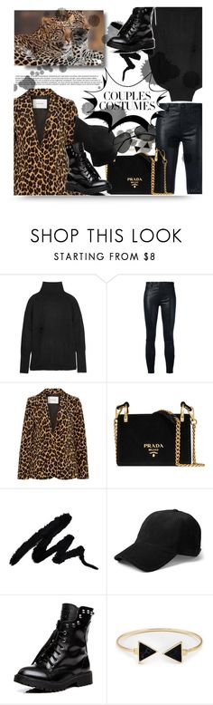 """""""#couplescostumes"""" by kristina-susanto ❤ liked on Polyvore featuring Autumn Cashmere, J Brand, Frame, Prada, Yves Saint Laurent and couplescostumes"""