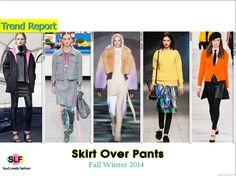 Skirt Over Leggings #FashionTrend for Fall Winter 2014 #Trends #Fall2014 #FW2014
