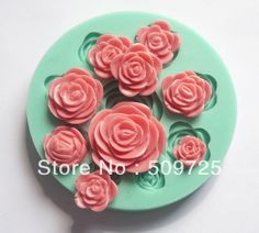 Silicone Cake Mold Decorating Gum Paste Fondant Clay Soap Mold Rose Shape-in Cake Molds from Home  Garden on Aliexpress.com $5.69
