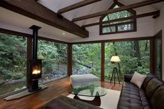 Modern Living Rooms Forest Views-21-1 Kindesign