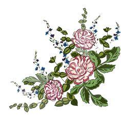 D Flowers, Botanical Flowers, Flowers Nature, Flower Art Images, Boarder Designs, Design Seeds, Art File, 3 D, Ornaments
