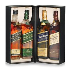 Johnnie Walker Deluxe multibrand - 4 Botellas x 200 cc. c/u