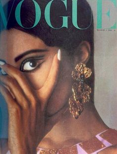 Vogue featuring Donyale Luna, the first African American model to appear on the cover.