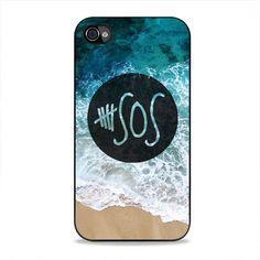 5Sos Logo Beach Sea iPhone 4, 4s Case