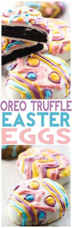 No Bake Oreo Truffle Easter Eggs... these eggs are SO delicious and would make the perfect treat for your Easter holiday! The whole entire family can get in on the fun and decorate their egg!