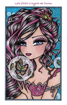Enchanted Faces - Hannah Lynn Art | Original artwork by Hannah Lynn Art  #hannahlynnart #mermaids #fairies