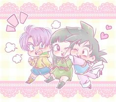 Dbz, Goten E Trunks, Trunks And Mai, Cute Couple Art, Cute Dragons, Son Goku, Cute Art, Chibi, Geek Stuff