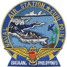 Naval Air Station Cubi Point Bataan Philippines Patch - Version A Navy Day, Us Navy, Olongapo, Space Patch, F4 Phantom, Bataan, Military Insignia, Morale Patch, Aircraft Carrier