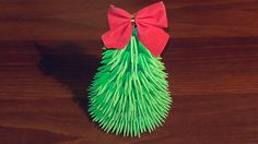 3D origami Christmas tree tutorial - YouTube