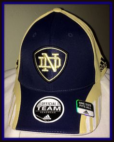 NOTRE DAME IRISH EMBROIDERED FLEX FIT CAP BY ADIDAS NEW WITH TAGS FREE SHIPPING #adidas #NotreDameFightingIrish