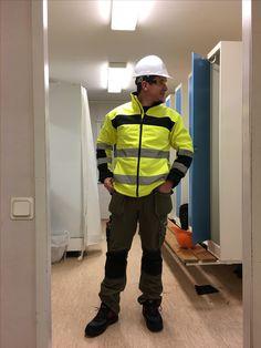 Construction Worker, Rain Jacket, Windbreaker, Hats, Jackets, Fashion, Down Jackets, Moda, Hat
