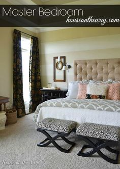 Master Bedroom Makeover from houseontheway.com #bedroom #makeover #diy