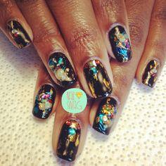 THE FRESH PRINCESS NAIL for @Chelsea Rose Lynne! Xoxoxoxo #nailswag #nails #nailart #nailartclub #swag #LA  (at NAIL SWAG)