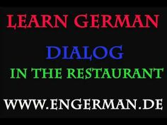Deutsch Lernen - Dialog - In the restaurant