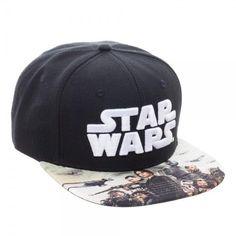 6011d6ec127 Star Wars Rogue One Black Skate Snapback Hat Baseball Cap SALE