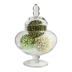 Apothecary Jar....use to display decor, treats or soaps in.