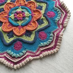 Mandala Madness CAL Parts 1-4. Gonna need more yarn #mandalamadnesscal