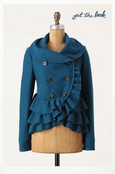 Coat - (Teal) (a)