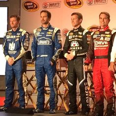 Here's the 2015 @teamhendrick Sprint Cup Series lineup. Last ride for @jeffgordonweb #CMSMediaTour #NASCAR