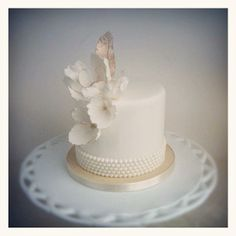 {A Soft Charm} A ceremonial cutting cake in Raspberry Mocha Passion- yum! by The Cake Whisperer