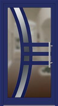 Kunststoff Haustür Modell 23_K ultramarinblau