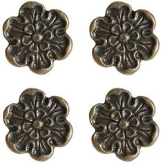 Metal Flower Knobs - Set of 4  Just like the ones from my old dresser :D