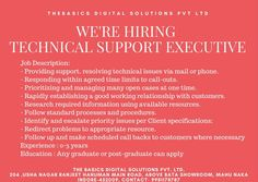 #Get_Ready #thebasics_digitalsolutions #IT_Company #Hiring #Technical_Support_Executive Executive Jobs, Job Posting, Prioritize, Job Description