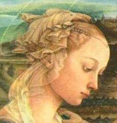 Lucrezia Buti fue hija de un rico comerciante de sedas en la Italia del Quatroccento, Ella vio como su brillante futuro se desvanecía con la desaparición de su padre. Lucrezia y su hermana Spinetta fueron enclaustradas en el monasterio de Santa Marguerita en Prato, a cambio de una humilde limosna. Pero Lucrezia nunca se imaginó al entrar contra su voluntad en aquellos santos muros que se convertiría en la musa de uno de los más brillantes pintores del Renacimiento (Filippo Lippi).