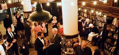 A cozy and intimate reception idea: historic bookstore- Housing Works Bookstore Cafe in NYC #weddingvenue