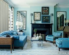 South Shore Decorating Blog: blue rooms
