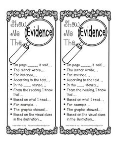 Evidence Reference Strips_TheCreativeChalkboard copy