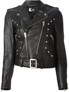 Pin for Later: The Leather Jackets That Will Make You Want to Ride Off Into the Sunset Saint Laurent Studded Biker Jacket Saint Laurent Studded Biker Jacket (£3,100)