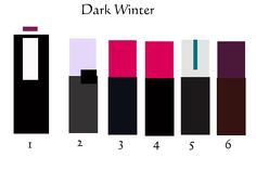 Dark Winter color combinations for clothing. Explanations on the site; click through.