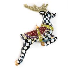 MacKenzie-Childs | Glass Ornament - Prancer