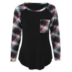 ****BLACK XLARGE****SHARE & Get it FREE | Plus Size One Pocket Plaid Sleeve T-ShirtFor Fashion Lovers only:80,000+ Items·FREE SHIPPING Join Dresslily: Get YOUR $50 NOW!