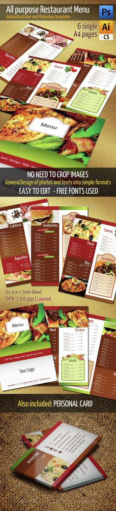 Restaurant Menu Menu, Print templates and Menu templates