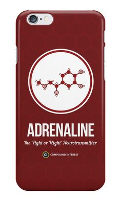 """""""Neurotransmitter Series: Adrenaline"""" iPhone Cases & Skins by Compound Interest 
