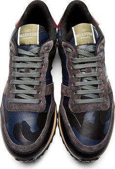 Navy & Black Camo Sneakers