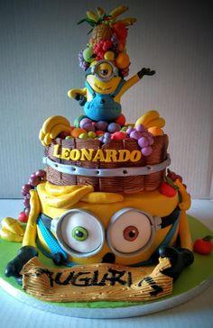 Cake Minions fruit - Cake by Natascia ciuffatelli